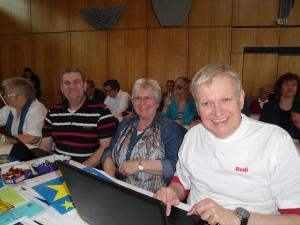 Ronnenberger Delegierte (v.l.): Paul Krause, Helga Benne-Serbent, Rudi Heim